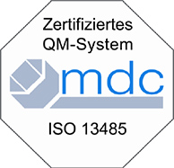 Medical Device Certification - ISO 13485 - Siegel Logo